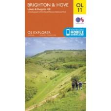 Brighton & Hove, Lewes & Burgess Hill : OL11 - Ordnance Survey