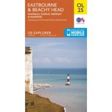 Eastbourne & Beachy Head, Newhaven, Seaford, Hailsham & Heathfield : OL25 - Ordnance Survey